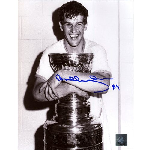 Bobby Orr Signed Picture Boston Bruins Stanley Cup Champs 8x10 GNR