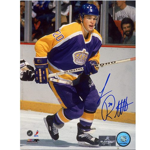 Luc Robitaille Rookie Autographed Photo-LA Kings 8x10