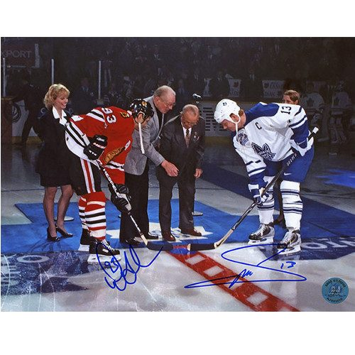 Doug Gilmour vs Mats Sundin Dual Signed Last Game at Maple Leaf Gardens 8x10 Photo