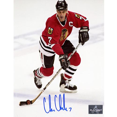 Chris Chelios Chicago Blackhawks Captain Signed 8x10 Photo