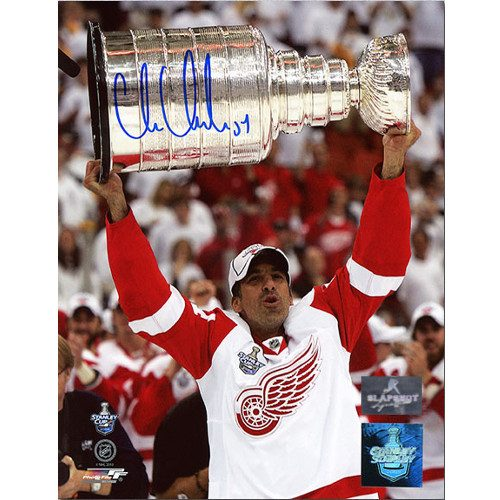 Chris Chelios Stanley Cup Detroit Signed 8x10 Photo