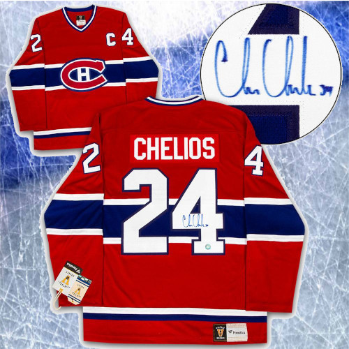 Chris Chelios Montreal Canadiens Signed Fanatics Vintage Hockey Jersey