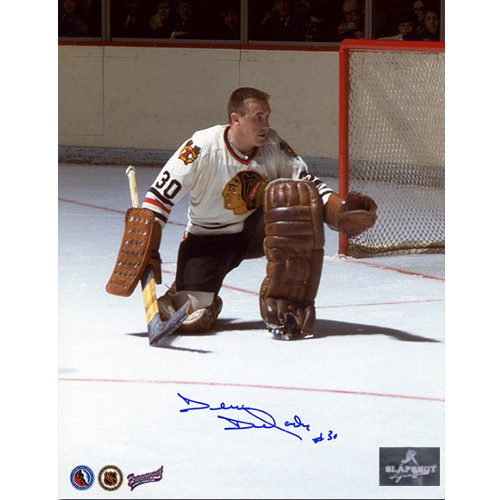 Denis Dejordy Signed Chicago Blackhawks Hockey Photo