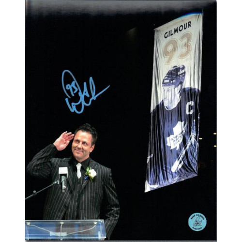 Doug Gilmour Banner Raising Night Photo Toronto Maple Leafs Signed 8x10