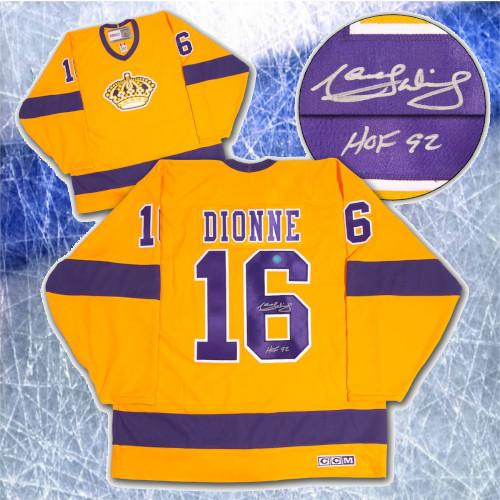 Marcel Dionne Los Angeles Kings Signed CCM Vintage Hockey Jersey