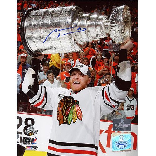 Marian Hossa Stanley Cup 2010 Blackhawks Signed 8x10 Photo