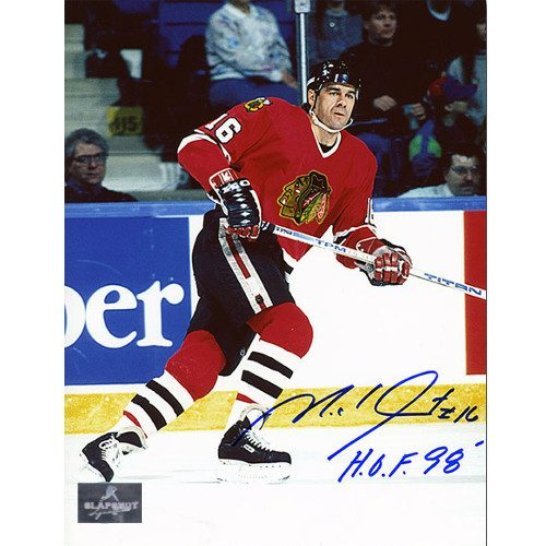 Chicago Blackhawks Michel Goulet Signed 8x10 Photo