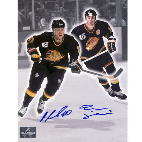 Pavel Bure Trevor Linden Vancouver Canucks Dual Signed Spotlight 8x10 Photo