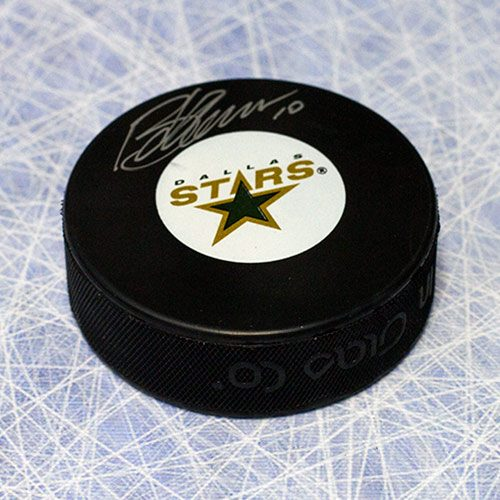 Brendan Morrow Signed Puck-Dallas Stars