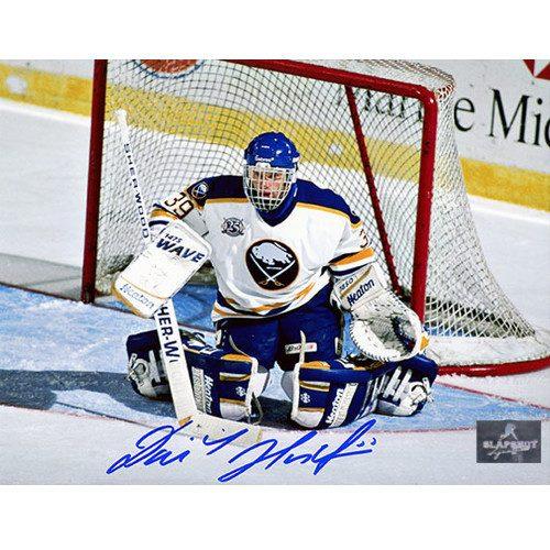 Dominik Hasek Buffalo Sabres Autographed 8X10 Save Photo