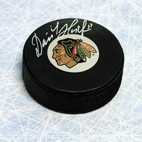 Dominik Hasek Signed Puck Chicago Blackhawks