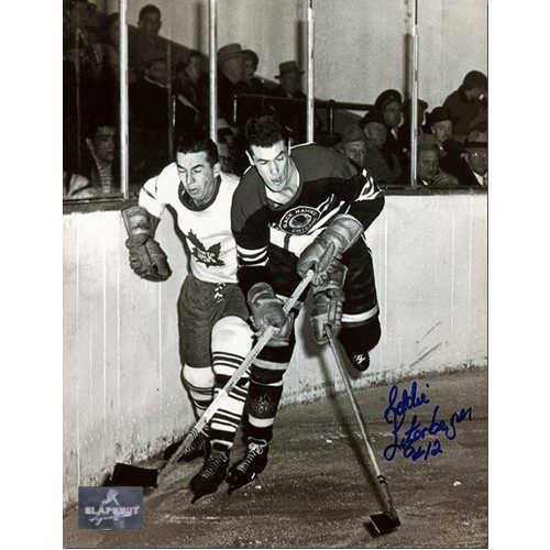 Ed Litzenberger Signed Photo Chicago Blackhawks