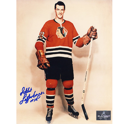 Ed Litzenberger Autographed Photo Chicago Blackhawks