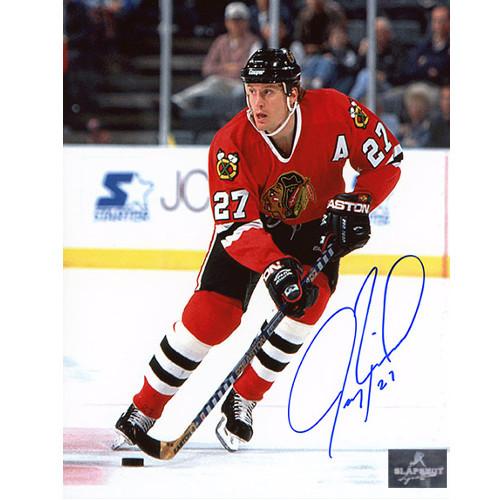 Jeremy Roenick Autographed Chicago Blackhawks 8X10 Photo