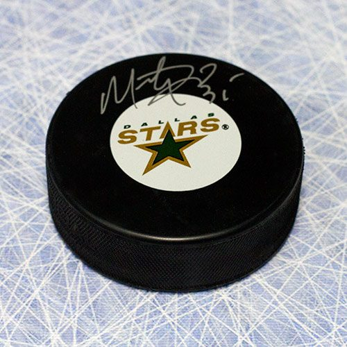 Marty Turco Signed Puck-Dallas Stars