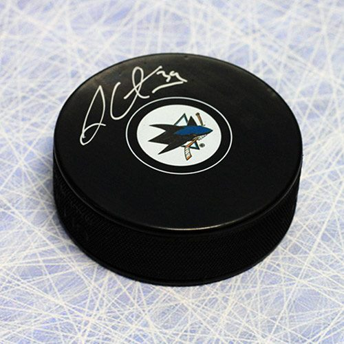 Logan Couture San Jose Sharks Autographed Hockey Puck