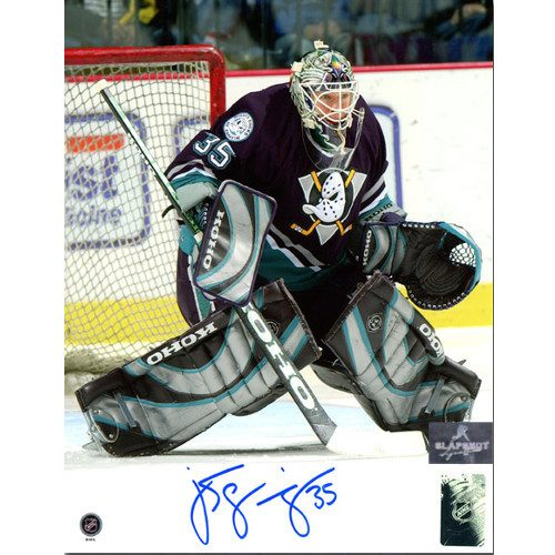 Jean Sebastien Giguere Anaheim Mighty Ducks Signed 8x10 Photo
