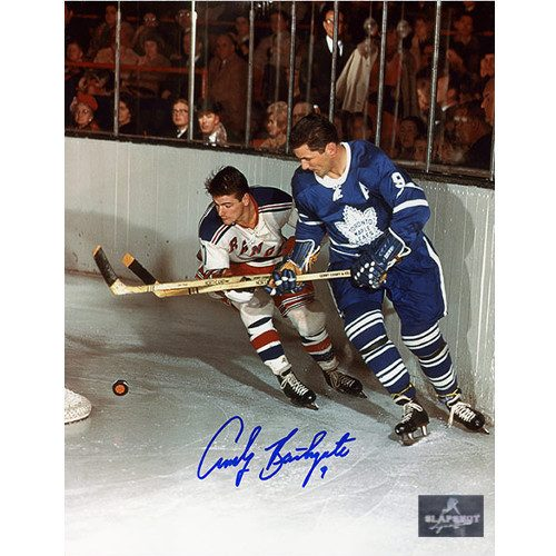 Andy Bathgate Toronto Maple Leafs Signed 8x10 Photo