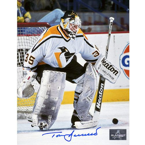 Tom Barrasso Pittsburgh Penguins Signed 8X10 Save Photo