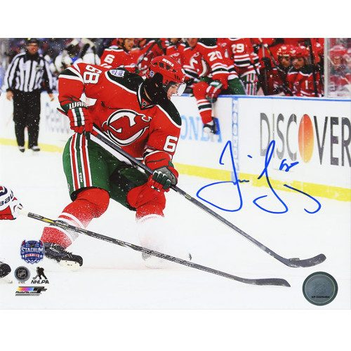 Jaromir Jagr New Jersey Devils Signed 8X10 Photo