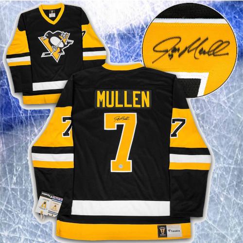Joe Mullen Pittsburgh Penguins Autographed Fanatics Vintage Hockey Jersey