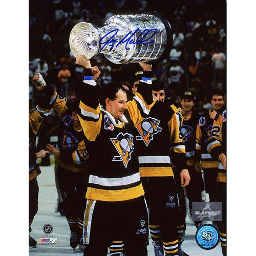 Joe Mullen Pittsburgh Penguins Signed 8X10 Stanley Cup Photo