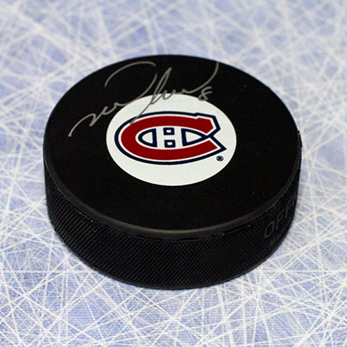Mark Recchi Autographed Puck Montreal Canadiens