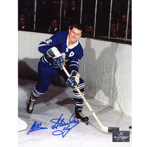 Allan Stanley Photo-Toronto Maple Leafs Signed 8x10