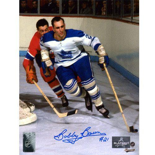 Bobby Baun Toronto Maple Leafs Autographed Original Six Action 8x10 Photo