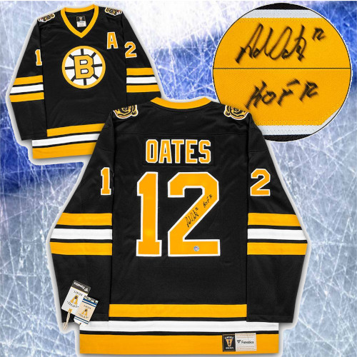 Adam Oates Boston Bruins Signed Fanatics Vintage Hockey Jersey