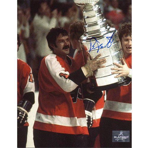 Bernie Parent Autographed Photo-Philadelphia Flyers Champs 8x10