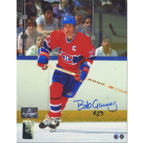 Bob Gainey Captain Signed Photo-Montreal Canadiens 8x10