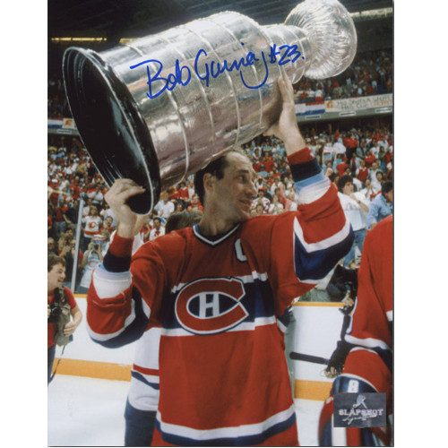 Bob Gainey Stanley Cup Signed Photo-Montreal Canadiens 8x10