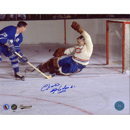 Charlie Hodge Autographed Photo-Montreal Canadiens 8x10