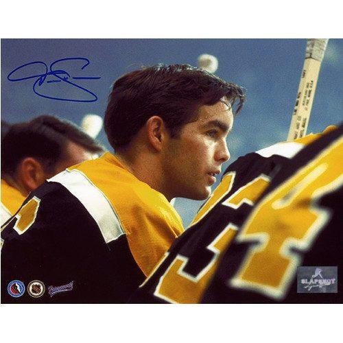 Derek Sanderson Boston Bruins Rookie Bench Signed Photo 8x10