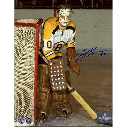 Gerry Cheevers Boston Bruins Rare Early Goalie Signed Photo 8x10