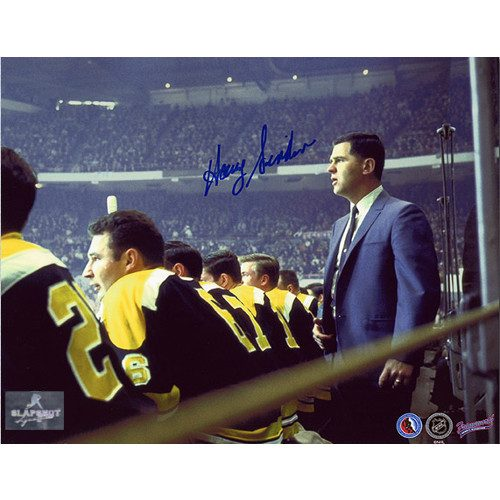 Harry Sinden Boston Bruins NHL Coach Signed Photo 8x10