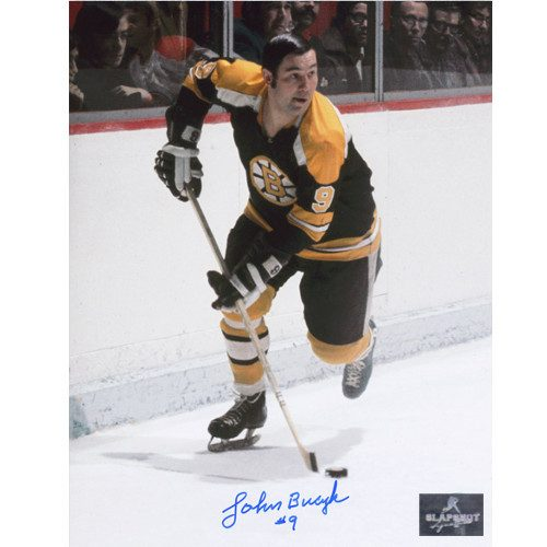 Johnny Bucyk Autographed Photo-Boston Bruins Playmaker 8x10