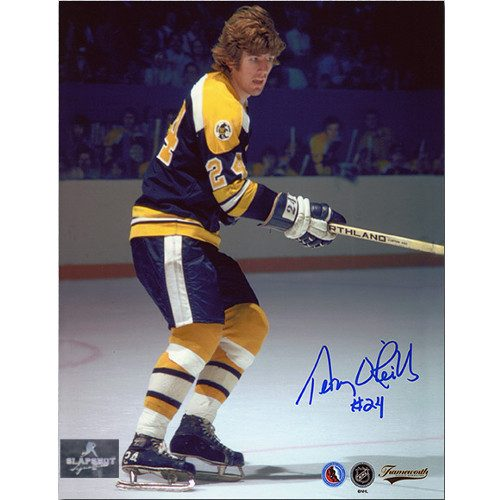 Terry O'Reilly Signed Photo-Boston Bruins Vintage Action 8x10
