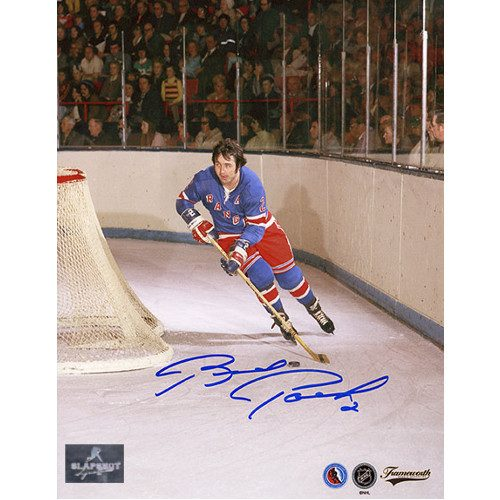 Brad Park New York Rangers Signed Photo Game Action 8x10