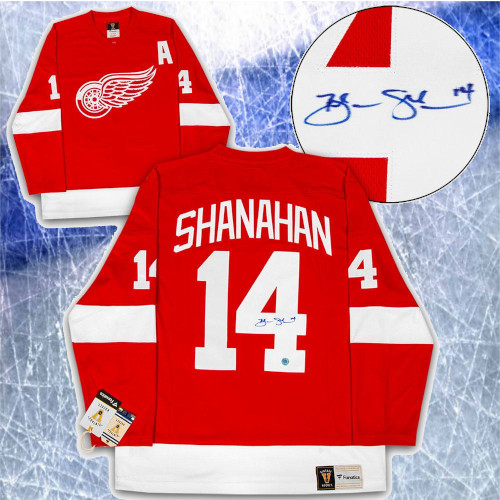 Brendan Shanahan Detroit Red Wings Signed Fanatics Vintage Hockey Jersey