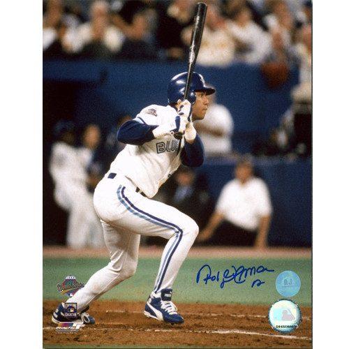 Roberto Alomar World Series Hit 1993 Toronto Blue Jays Signed 8x10 Photo
