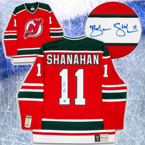 Brendan Shanahan New Jersey Devils Signed Fanatics Vintage Hockey Jersey