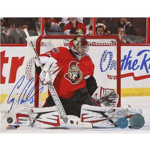 Craig Anderson Goalie Butterfly Save Signed Photo-Ottawa Senators 8x10