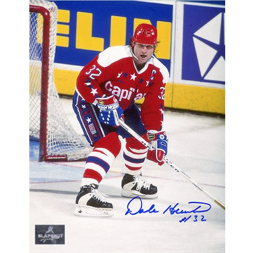 Dale Hunter Washington Capitals Autographed Ready Pose 8x10 Photo