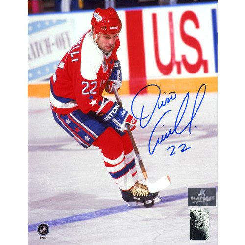 Dino Ciccarelli Autographed Picture-Washington Capitals Hockey Sniper 8x10 Photo