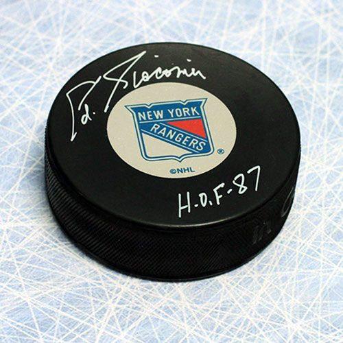 Ed Giacomin Signed Puck-New York Rangers Hockey Puck HOF Note