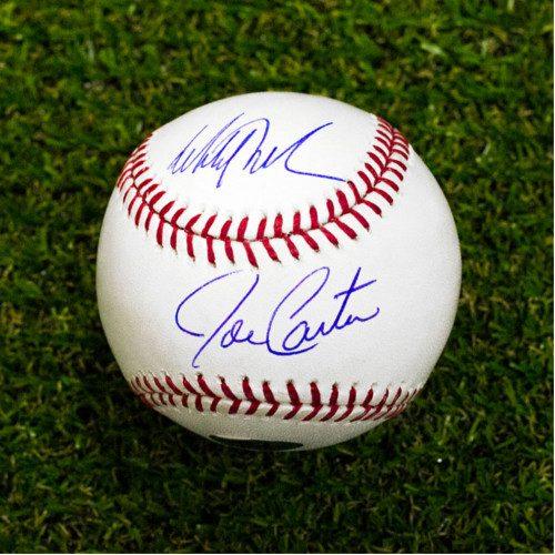 Joe Carter Mitch Williams Toronto Blue Jays World Series 93 Signed Baseball
