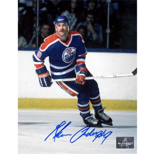 Glenn Anderson Edmonton Oilers Autographed Hockey Action 8x10 Photo