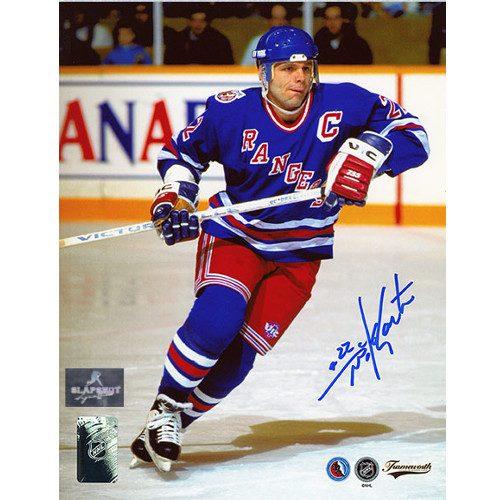 Mike Gartner Captain New York Rangers Autographed 8x10 Photo